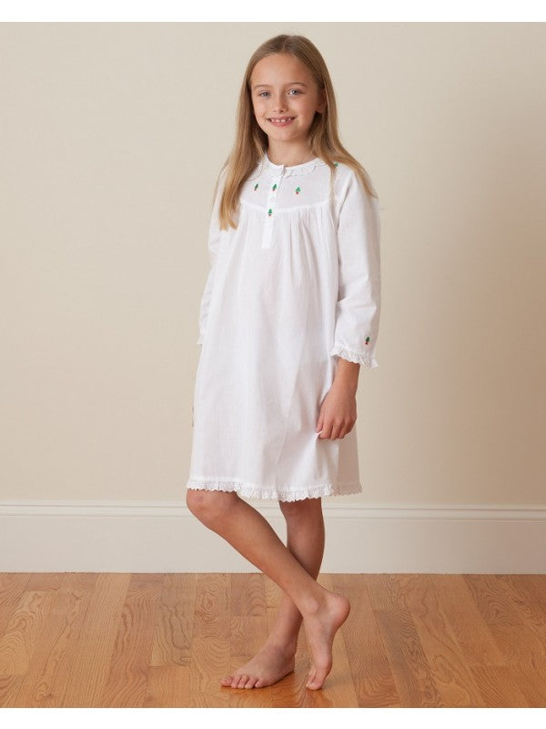 Christmas Cotton Nightgown, long sleeve
