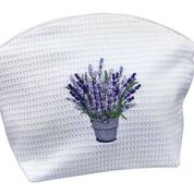 Large Waffle Cosmetic Bag:  Lavender Bucket