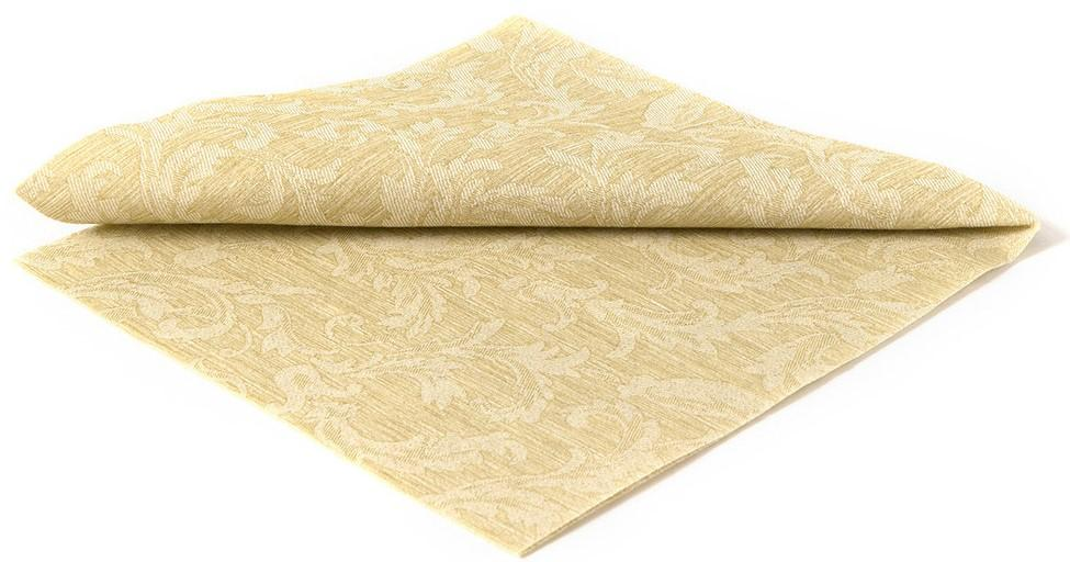 Deluxe Green Floral Damask Paper Napkins
