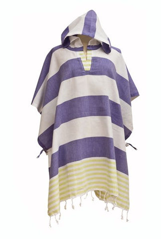 Derin Woman's Poncho Green/Purple