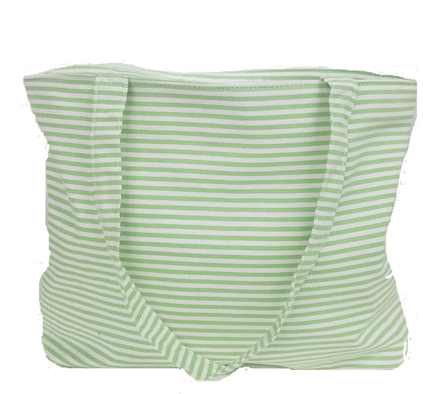 Derin Turkish Beach Bag Green Stripe
