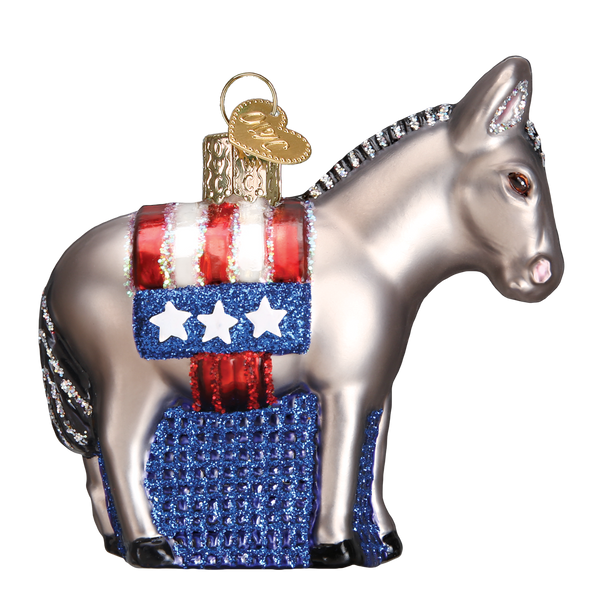 Old World Christmas Democratic Donkey