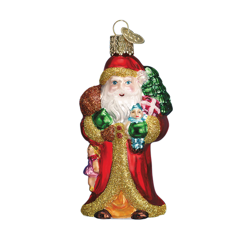 Old World Christmas Father Christmas with Gifts. (discontinued)