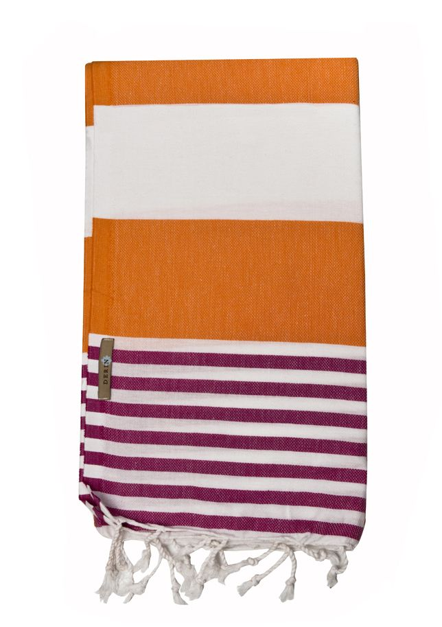 Derin Turkish Beach Towel Orange/pink