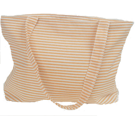 Derin Turkish Beach Bag Orange Stripe
