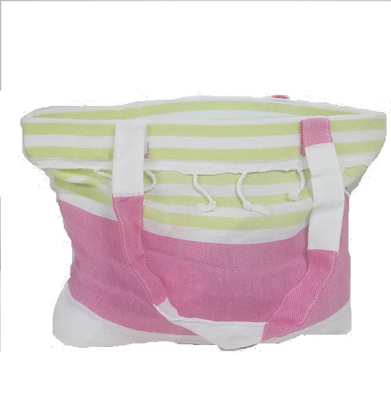 Derin Turkish Market/Beach Bag Pink/Green