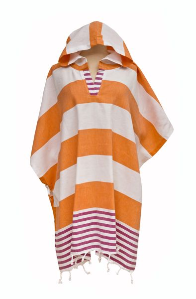 Derin Woman's Poncho Pink/Orange