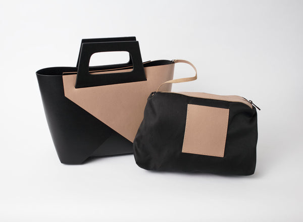 Solo Perche Bassono Two Bags in one:  Crossover; Tote