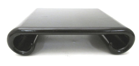 Wood Rectangular Stand with Scrolled Legs