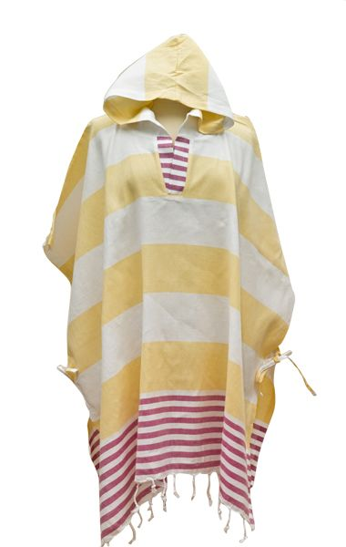 Derin Woman's Poncho Yellow/Pink