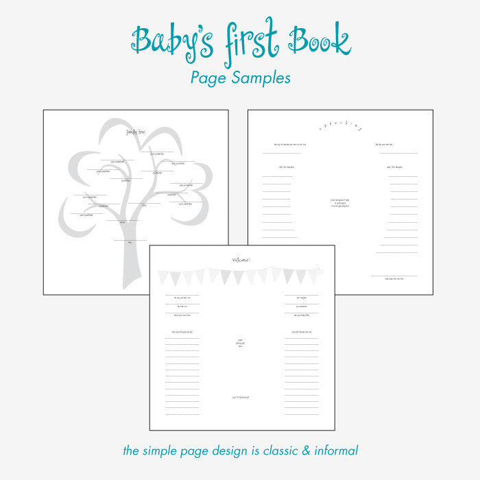 Personalized Baby's First Book Welcome to the World-Blue
