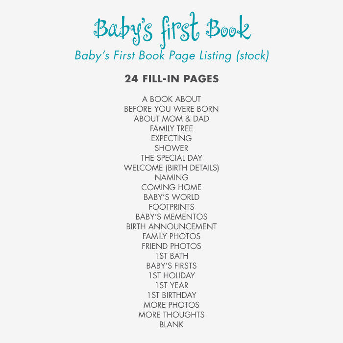 Baby's First Book Welcome to the World - Blue