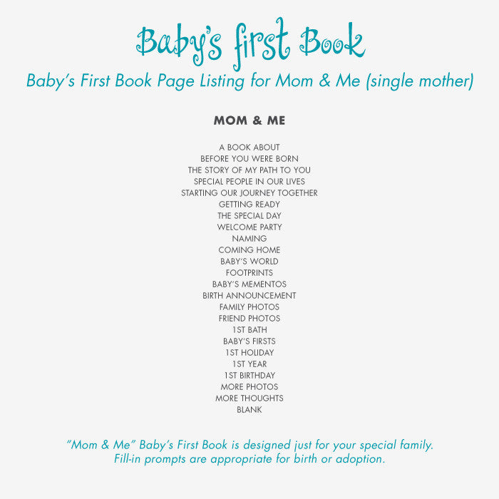 Personalized Baby's First Book Oh Baby - Gray