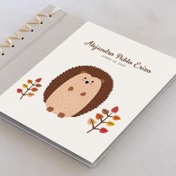 Personalized Baby's First Book Hedgehog