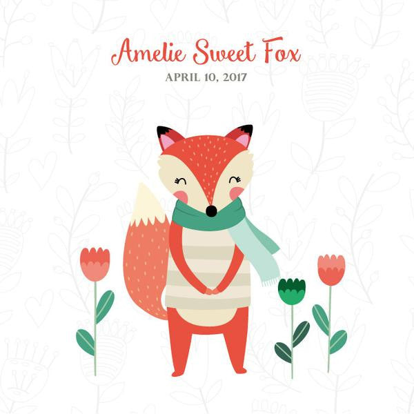Personalized Baby's First Book Sweet Fox