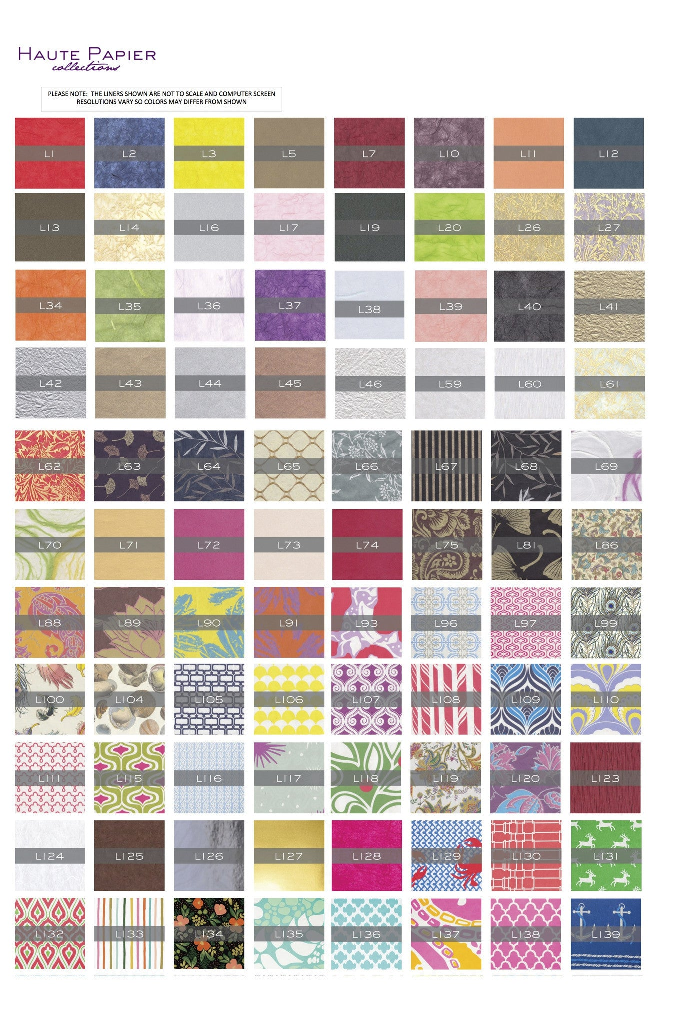 Haute Papier Envelope Liner Options