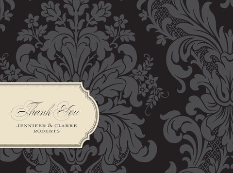 Black Damask - Bridal Stationery
