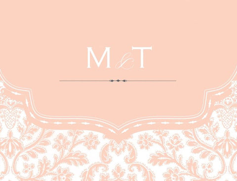 Blush Initial - Bridal Stationery