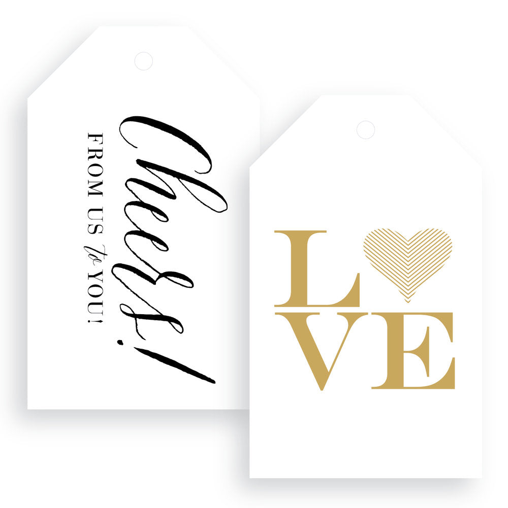 Love + Cheers Gift Tags