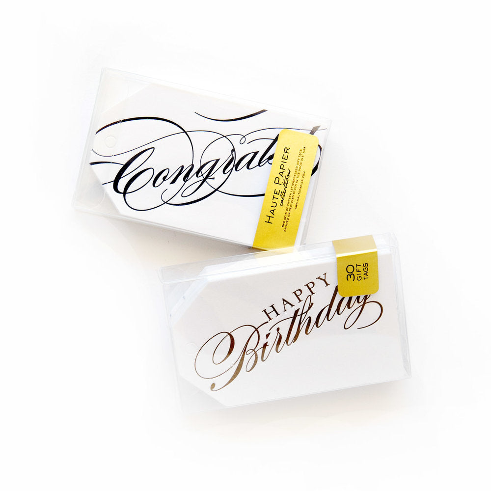 Congrats + Happy Birthday Gift Tags