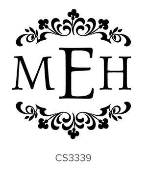 Custom Monogram Stamp CS3339