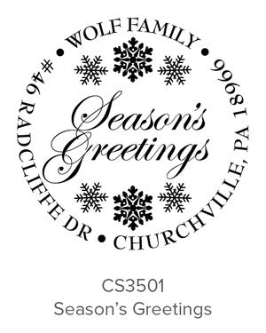 Custom Holiday Stamp CS3501