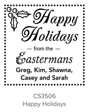 Custom Holiday Stamp CS3506
