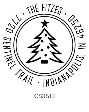 Custom Holiday Stamp CS3513
