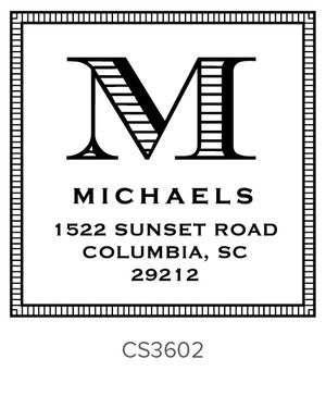 Custom Address Stamp CS3602