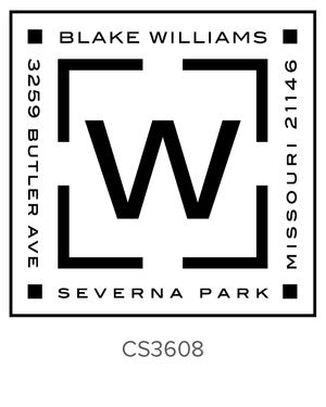 Custom Address Stamp CS3608