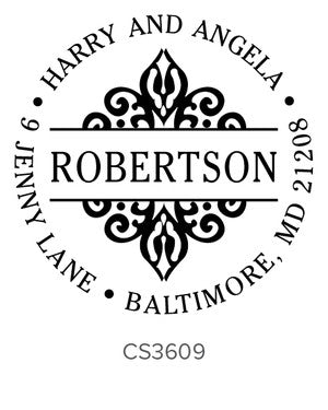 Custom Address Stamp CS3609