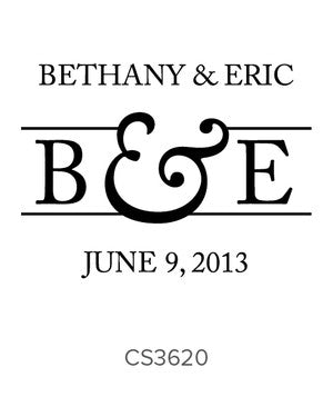 Custom Wedding Stamp CS3620
