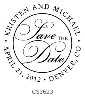 Custom Wedding Stamp CS3623