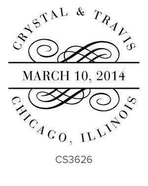 Custom Wedding Stamp CS3626