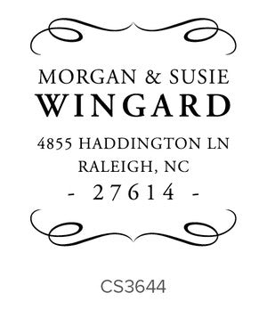 Custom Address Stamp CS3644
