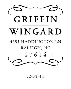 Custom Address Stamp CS3645