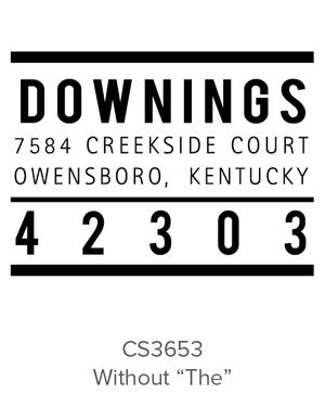 Custom Address Stamp CS3653