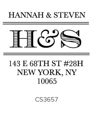 Custom Address Stamp CS3657