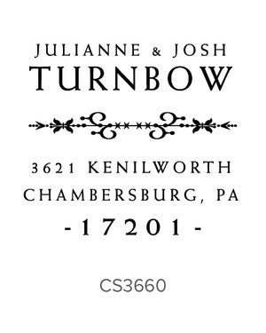 Custom Address Stamp CS3660