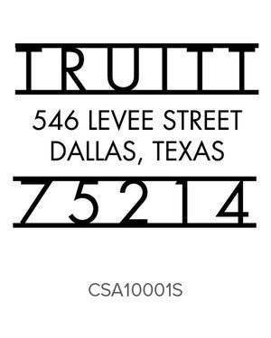Custom Address Stamp 10001S