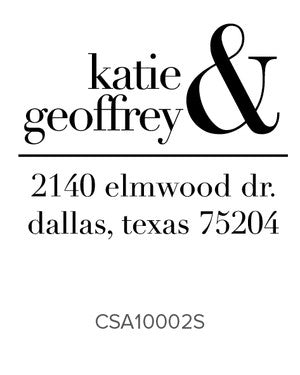 Custom Address Stamp 10002S