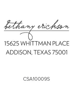 Custom Address Stamp 10009S