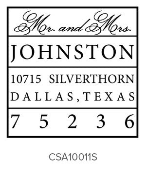 Custom Address Stamp 10011S