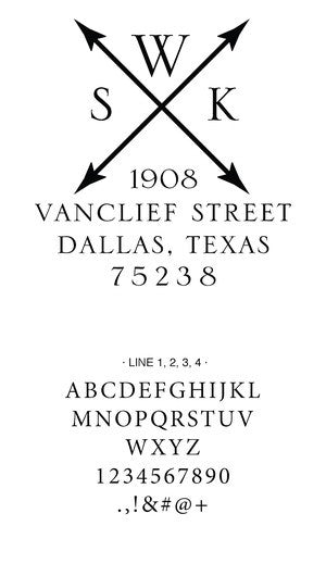 Custom Address Stamp 10012S