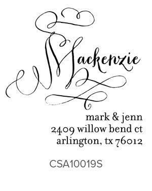 Custom Address Stamp 10019S