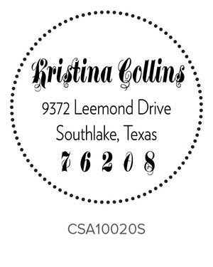 Custom Address Stamp 10020S