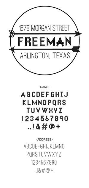 Custom Address Stamp 10023S