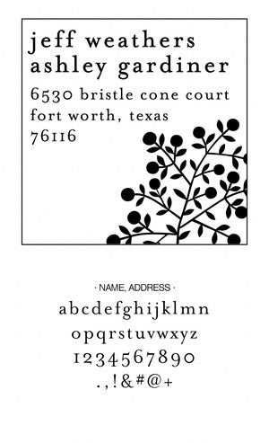 Custom Address Stamp CS3640