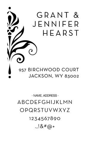 Custom Address Stamp CS3641