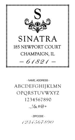 Custom Address Stamp CS3642